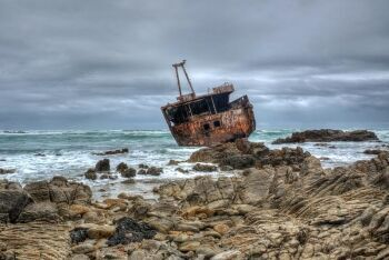 Cape L\'Agulhas shipwreck, Whale Coast, Western Cape