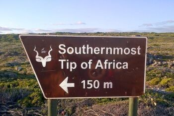 Cape  L\'Agulhas is the geographic most southern tip of Africa
